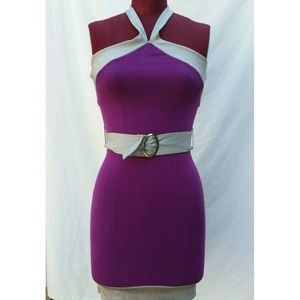 Marciano Short Dress XSmall Halter Belted Knit
